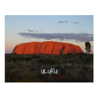 Uluru Sunset Ayers Rock Australia Postcard