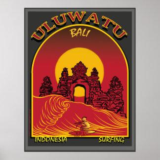Uluwatu Bali Indonesia Surfbreak Poster