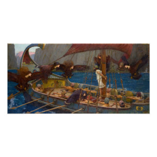 Ulysses and the Sirens by J.W. Waterhouse Poster
