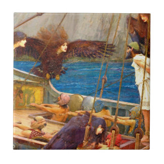Ulysses and the Sirens by J. W. Waterhouse Small Square Tile