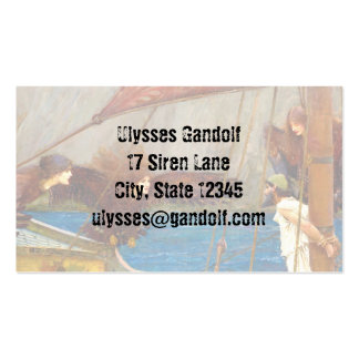 Ulysses and the Sirens by John Waterhouse Business Card Templates