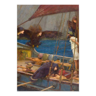 Ulysses and the Sirens by John William Waterhouse Personalized Invitations