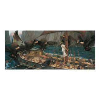 Ulysses and the Sirens by JW Waterhouse Custom Invitations