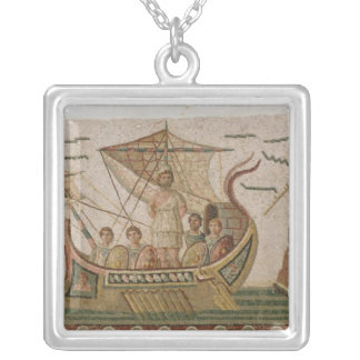 Ulysses and the Sirens Silver Plated Necklace