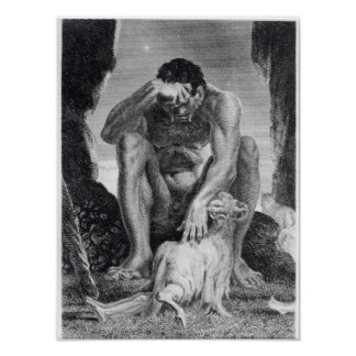 Ulysses Escaping from Polyphemus the Cyclops Poster