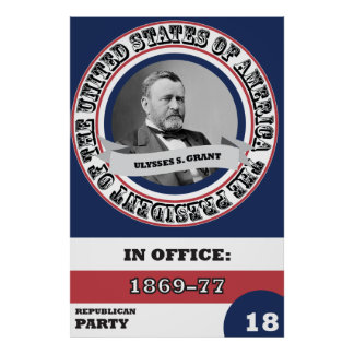 Ulysses S. Grant Presidential History Poster