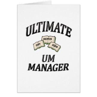 UM MANAGER GREETING CARD