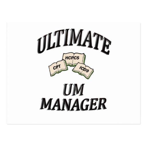 UM MANAGER POST CARD