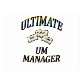UM MANAGER WITH COLOR POSTCARD