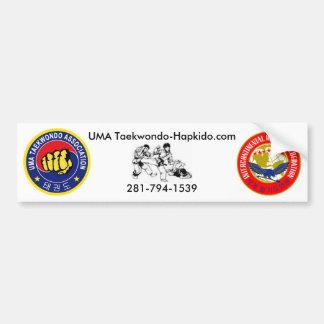 UMA Taekwondo-Hapkido bumper sticker