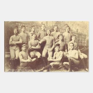UMass Football 1888 Rectangle Stickers