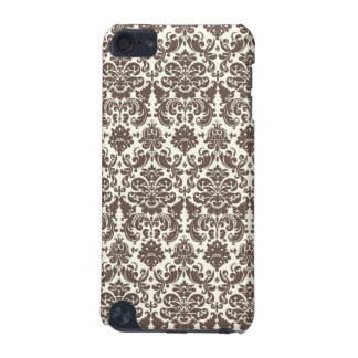 Umber and Ivory Elegant Damask Pattern iPod Touch (5th Generation) Cover