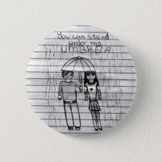 umbrella 6 cm round badge