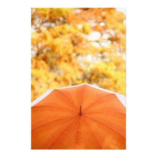 Umbrella and Autumn Colors Photo Art
