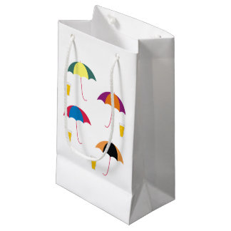 UMBRELLA AND DRINK SMALL GIFT BAG