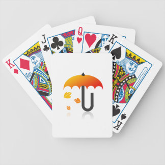 Umbrella and leaves poker deck