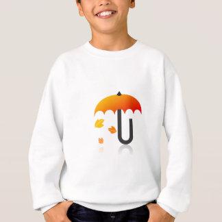 Umbrella and leaves sweatshirt