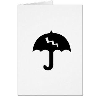 umbrella and  lighting card