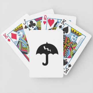 umbrella and  lighting poker deck
