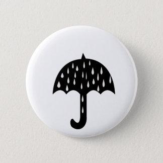 Umbrella and raining 6 cm round badge