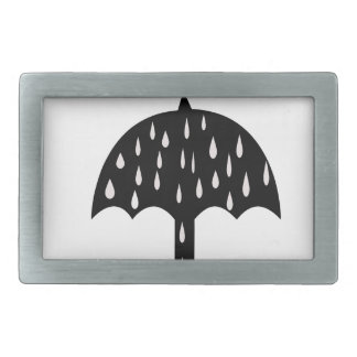 Umbrella and raining rectangular belt buckle
