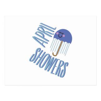 Umbrella April Showers Postcard