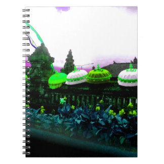 Umbrella Bali Colour Splash Lime Notebook