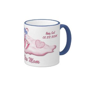 Umbrella Bear Girl for New Mom - Customize Coffee Mugs
