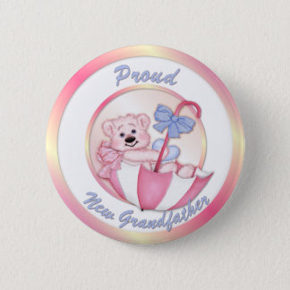 Umbrella Bear - New Grandpa - Girl 6 Cm Round Badge