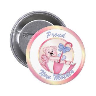 Umbrella Bear - New Mom - Girl 6 Cm Round Badge