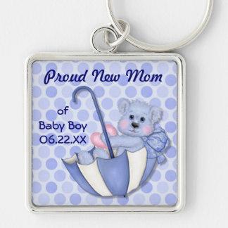 Umbrella Bear - New Mom of Boy Key Chain