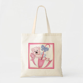 Umbrella Bear - New Mom of Girl Tote Bag
