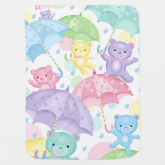 Umbrella Bears Baby Blanket