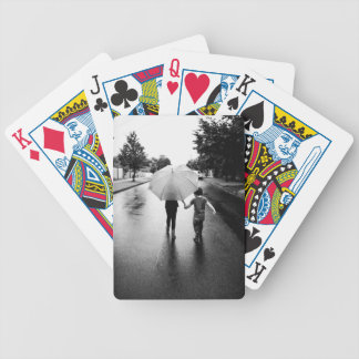 umbrella bicycle playing cards