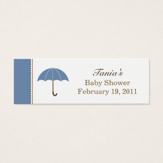 Umbrella Blue Small Tag Mini Business Card