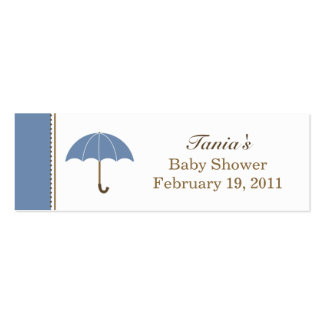 Umbrella Blue Small Tag Pack Of Skinny Business Cards
