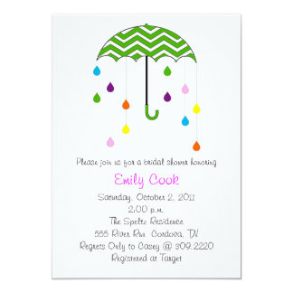 Umbrella Bridal Shower Card
