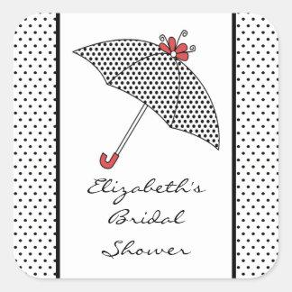 Umbrella Bridal Shower Sticker