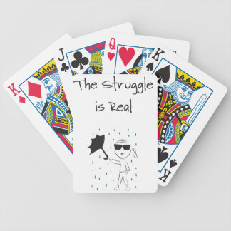 Umbrella Fail Struggle Is Real Bicycle Playing Cards