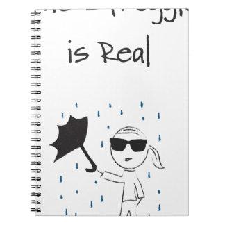 Umbrella Fail Struggle Is Real Notebooks