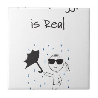 Umbrella Fail Struggle Is Real Small Square Tile