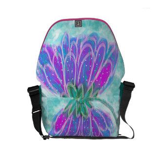 Umbrella flower messenger bag