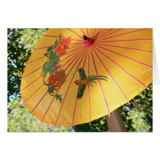 umbrella for april showers greeting card