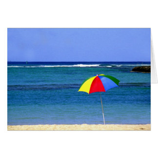 Umbrella in Hawaii Card