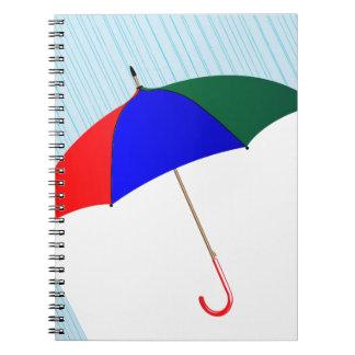 Umbrella In The Rain Notebook