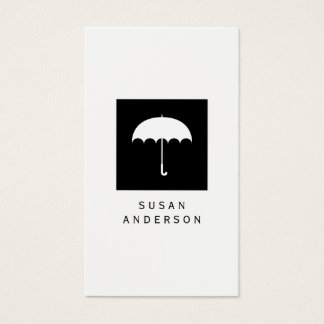 Umbrella Logo Business Card