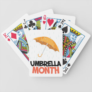 Umbrella Month - Appreciation Day Bicycle Playing Cards