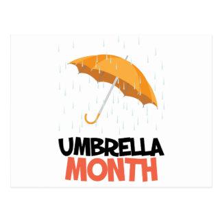 Umbrella Month - Appreciation Day Postcard