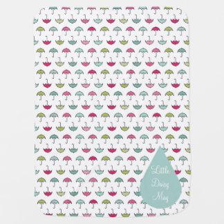 Umbrella Pattern Baby Blanket