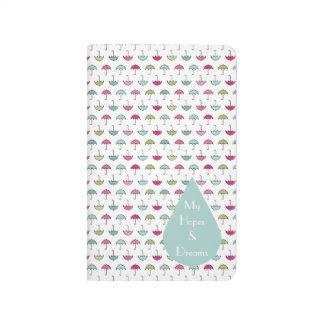 Umbrella Pattern Pocket Journal